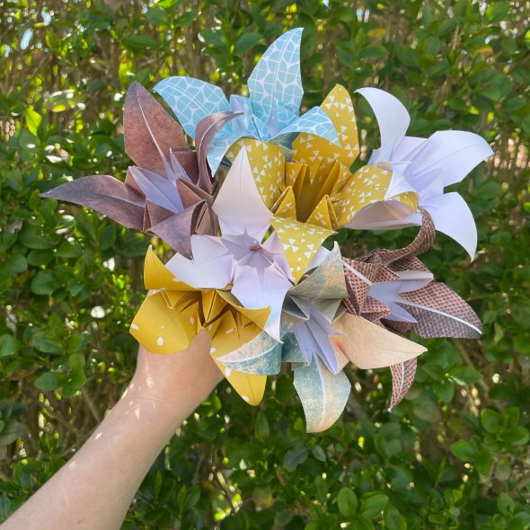 bouquet de fleurs origami ESMEE