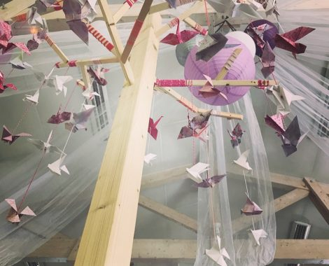 Arbre origami de mariage